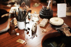 jeweler's studio workbench
