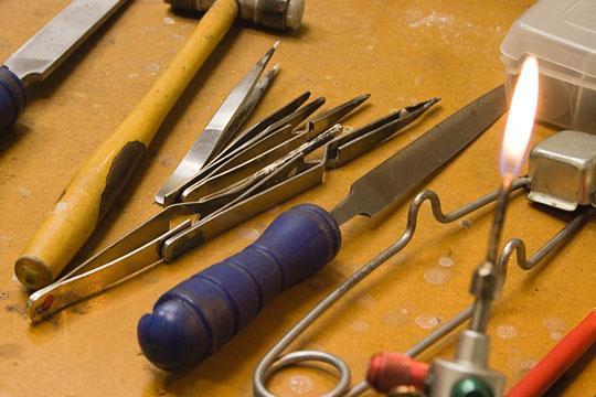 miscellaneous jeweler's tools